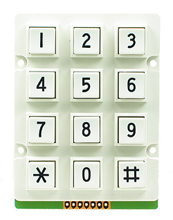 White Waterproof 3x4 Keypad