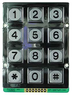 Metallic Waterproof 3x4 Keypad