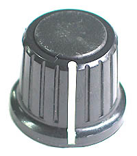 KNOB1 - Black Plastic with Pointer