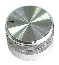 KNOB21 - Large Silver Finish Aluminium Knob with Pointer