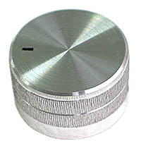 KNOB22 - Extra Large Silver Finish Aluminium Knob with Pointer