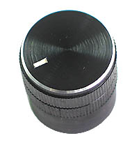 KNOB3 - Black Aluminium Knob with Pointer