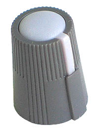 KNOB30 - Small Grey Plastic Grey Top Knob with Pointer