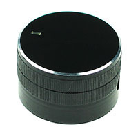 Extra Large Black Aluminium Knob with Pointer