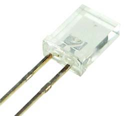 LED2X5W - White 2x5mm Rectangular LED