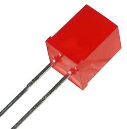 LED5X5R - Red 5x5mm Square LED