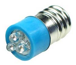 LEDE12BL - E12 12V LED Replacement Lamp - Blue
