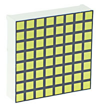 LEDMS88WH-CA - White Square 8x8 Common-Anode Led Matrix Display