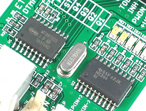 Click for Larger Image - MT8870 DTMF Receiver Mini Board