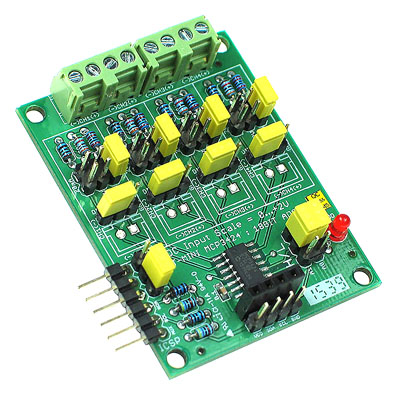 MCP3424 18-bit A/D Converter Mini Board
