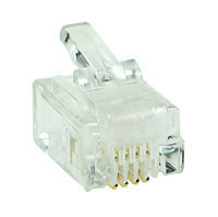 MODP4W4W - 4 Way-4 Wire (RJ11) Modular Crimp Plug