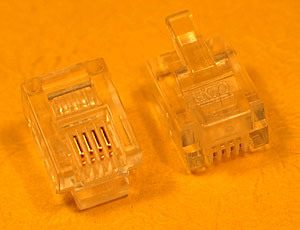 MODP6W4W - 6 Way - 4 Wire (RJ12) Modular Crimp Plug