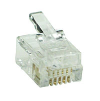 MODP6W6W - 6 Way-6 Wire (RJ12) Modular Crimp Plug