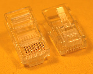 MODP8W8W - 8 Way - 8 Wire (RJ45) Modular Crimp Plug