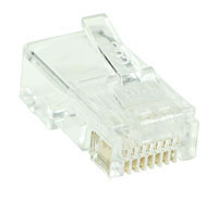 8 Way-8 Wire (RJ45) Modular Crimp Plug