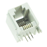 MODS6W4W - 6 Way-4 Wire (RJ12) PCB Mount Modular Socket