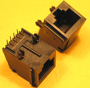 MODS8W8W - 8 Way - 8 Wire (RJ45) PCB Mount Modular Socket