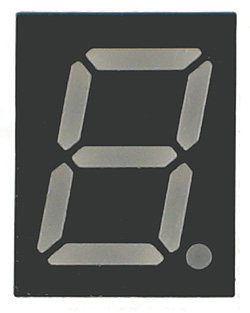 7SG3911AG - Single Green 0.40inch CC 7-Segment LED Display