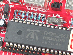 Click for Larger Image - P8X32 Controller - P8X32 Microcontroller