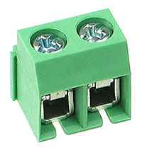 PCBT2 - 2 Terminal PCB 5mm Terminal Block (Side Entry)