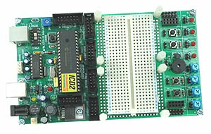 Click for Larger Image - PIC18F4550 USB Development Board