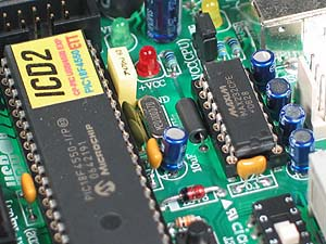 Click for Larger Image - Microchip PIC18F4550 Microcontroller