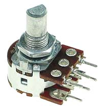 1k ohm Dual Linear Rotary Potentiometer with D-Type Shaft