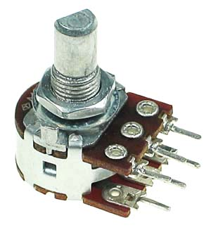 POT100KBDUALSHD - 100K Linear Dual Taper Potentiometer with D-Type Shaft