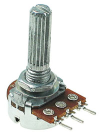 POT10KBDETENT - 10Kohm Linear Rotary Taper Potentiometer with Center Detent