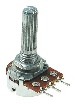 POT100KBDETENT - 100K Linear Taper Potentiometer with Center Detent
