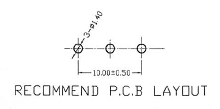 POT100KBDETENT - 100K Linear Taper Potentiometer with Center Detent PCB Layout