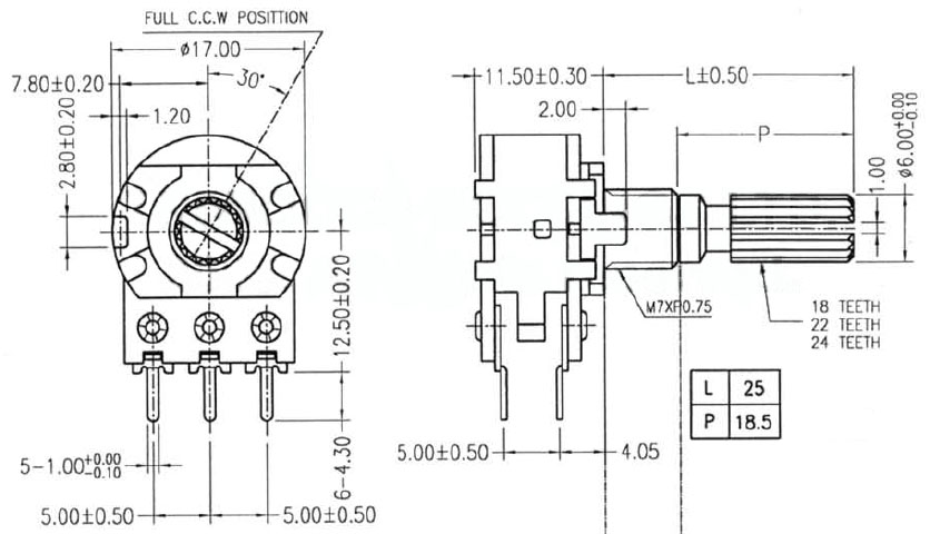 potentiometer datasheet  u2013 industrial electronic components