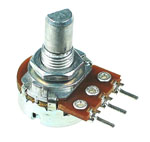 1/2W Logarithmic Taper Potentiometers with D-Type Shaft