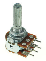 1/2W Dual Linear Taper Potentiometers with Center Detent