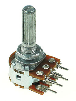 Dual Linear Potentiometer with Center Detent