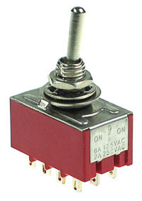 4PDT101 - 4PDT on-off-on Miniature Toggle Switch