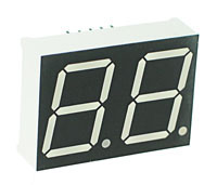 7DR8021DS - Double Hi-Red 0.80inch Common Anode 7-Segment Individual LED Display