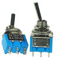 SPDT11FA - SPDT on-on Flattened Actuator Miniature Toggle Switch
