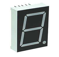 7SG10012BG - Single Green 1.0in Common Anode 7-Segment LED Display