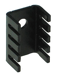 TO220S - TO-220 Small Black Aluminium Heatsink