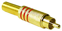 High Quality Gold Plug with Cord Protector - Red