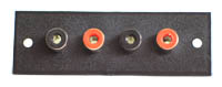 Insulated Panel Mount RCA Sockets - 4 Way
