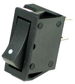 SPST Momentary Rocker Switch