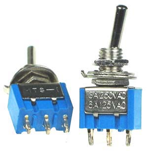 SPDT101 - SPDT on-off-on Miniature Toggle Switch