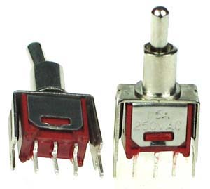 SPDT101PCSM - SPDT on-off-on Vertical PCB Mount Sub-Miniature Toggle Switch