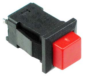 SPREDLATCH - SPST Square off-on Latching RED Pushbutton
