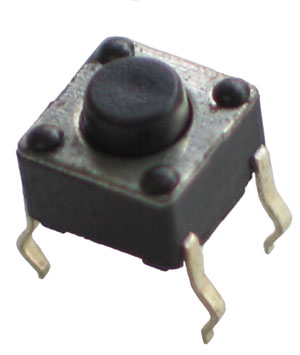 TACT001 - Small Black Tactile Switch