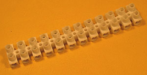 TERM10A - 12 Way 10A PVC European Style Terminal Block