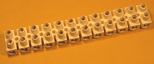 TERM30A - 12 Way 30A PVC European Style Terminal Block