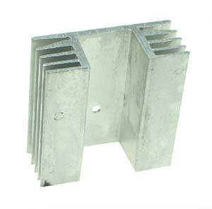 TO218S049B - Large Silver Finish TO-218 Heatsink with Side Fins